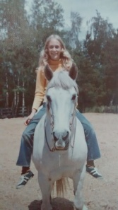 White Cloud and I, 1973 (yes, I used to ride without a helmet and proper footwear...but I advocate strongly for proper safety gear now)